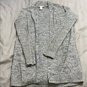 H&M grey knitted cardigan xs